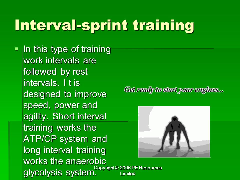 Interval-sprint training