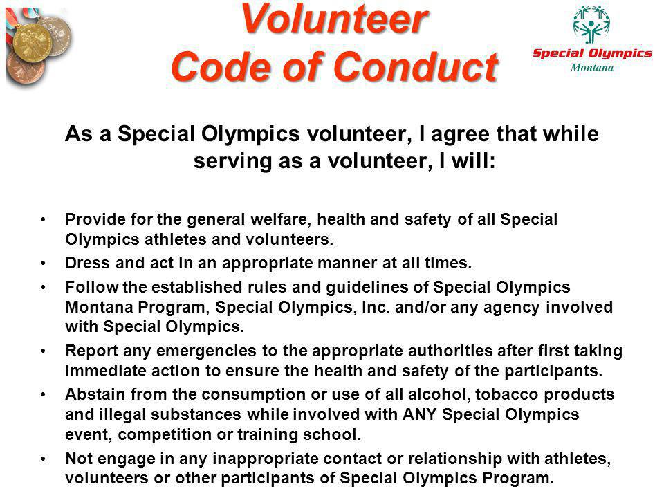 Volunteer Code of Conduct