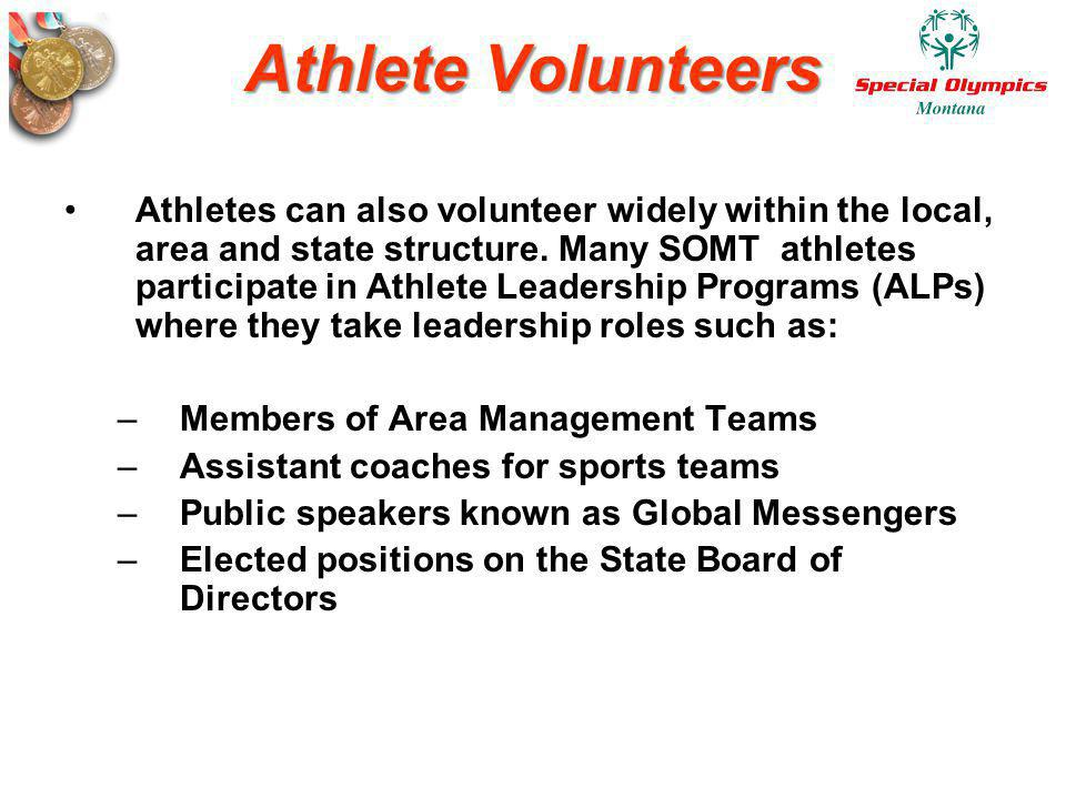 Athlete Volunteers
