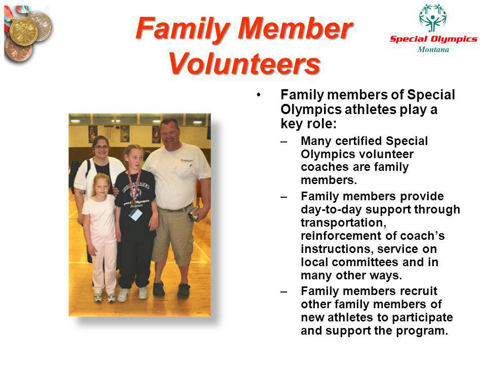 Family Member Volunteers