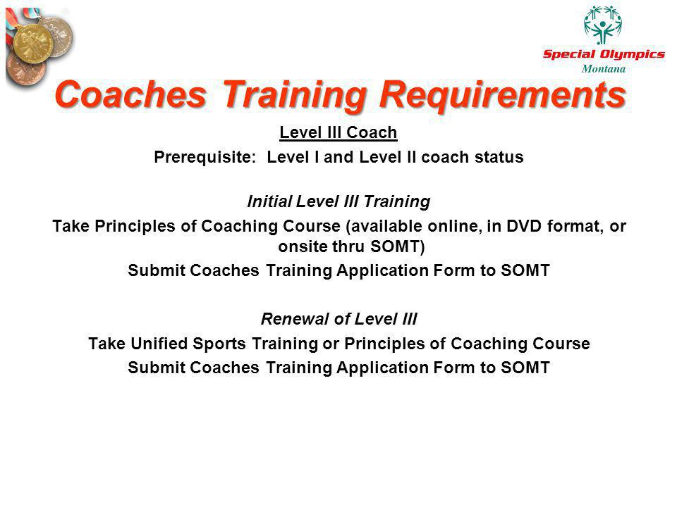 Coaches Training Requirements