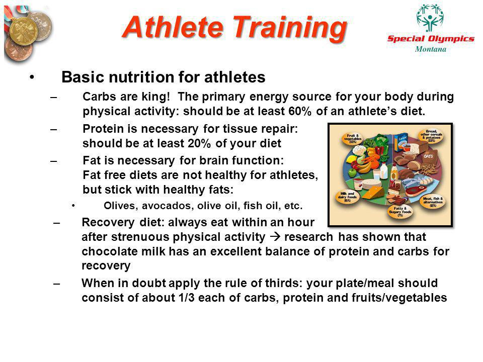 Athlete Training Basic nutrition for athletes
