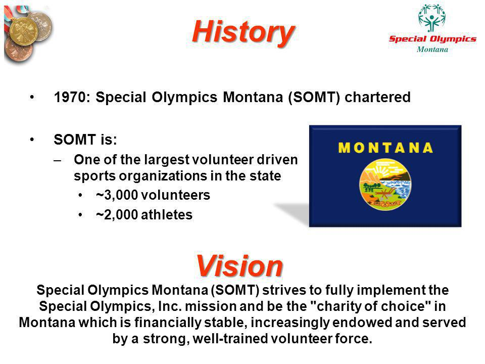 History Vision 1970: Special Olympics Montana (SOMT) chartered