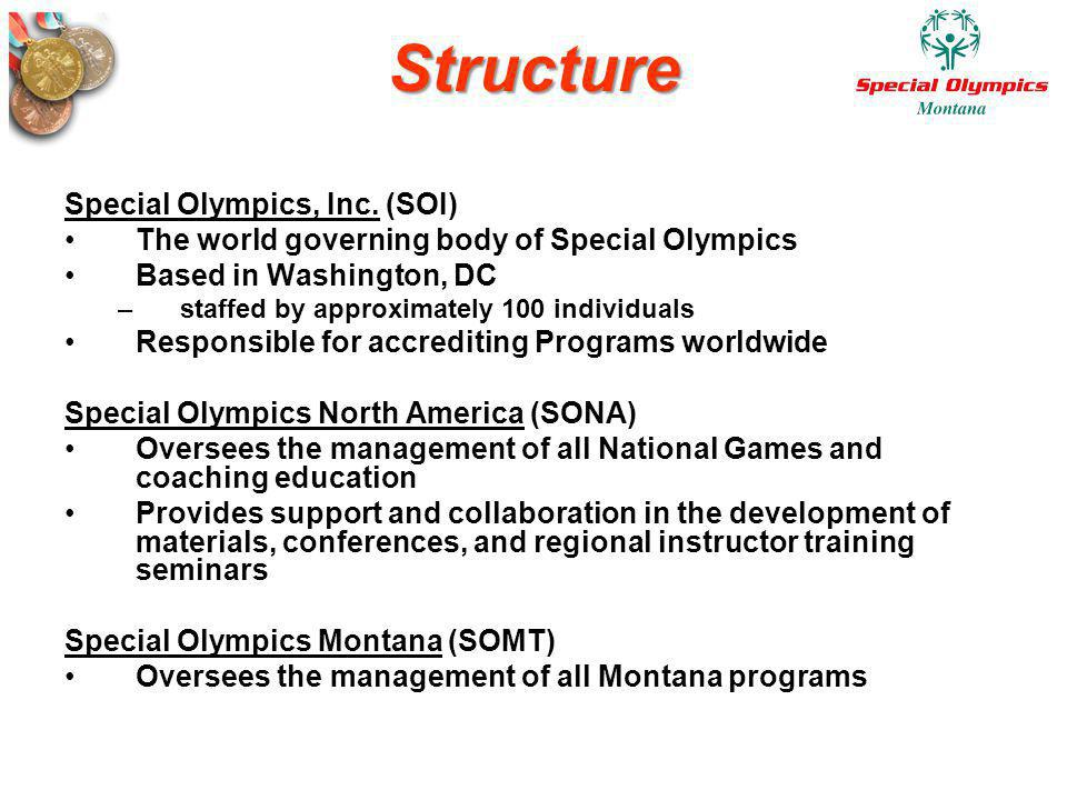 Structure Special Olympics, Inc. (SOI)