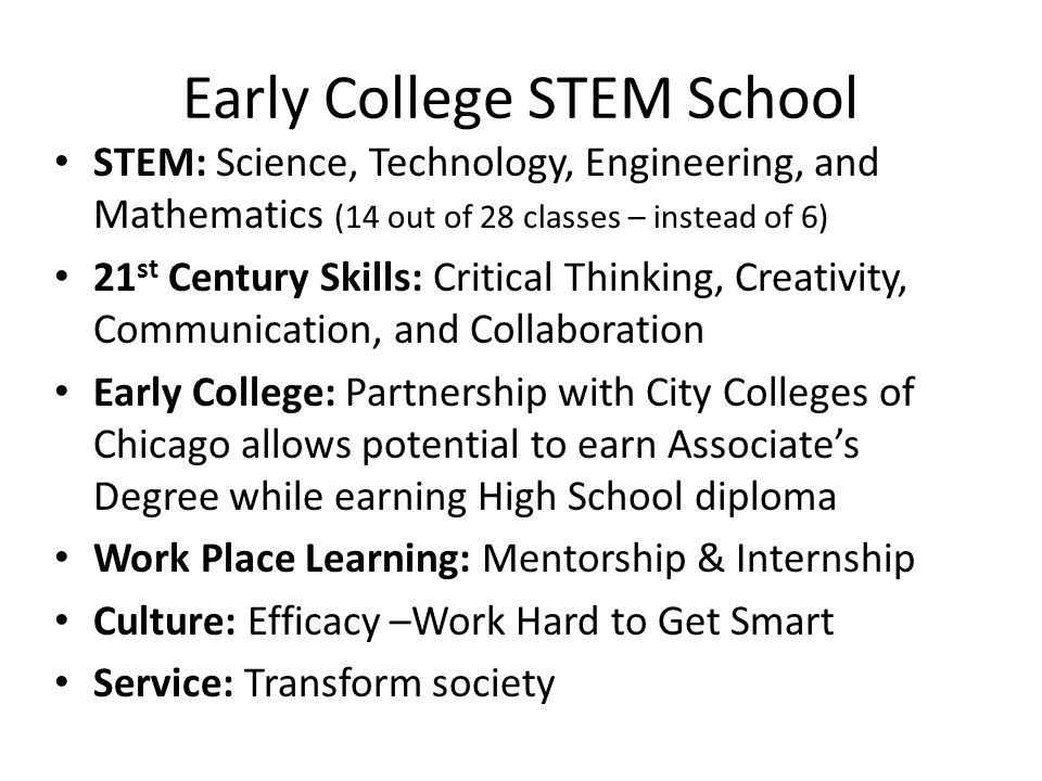Early College STEM School