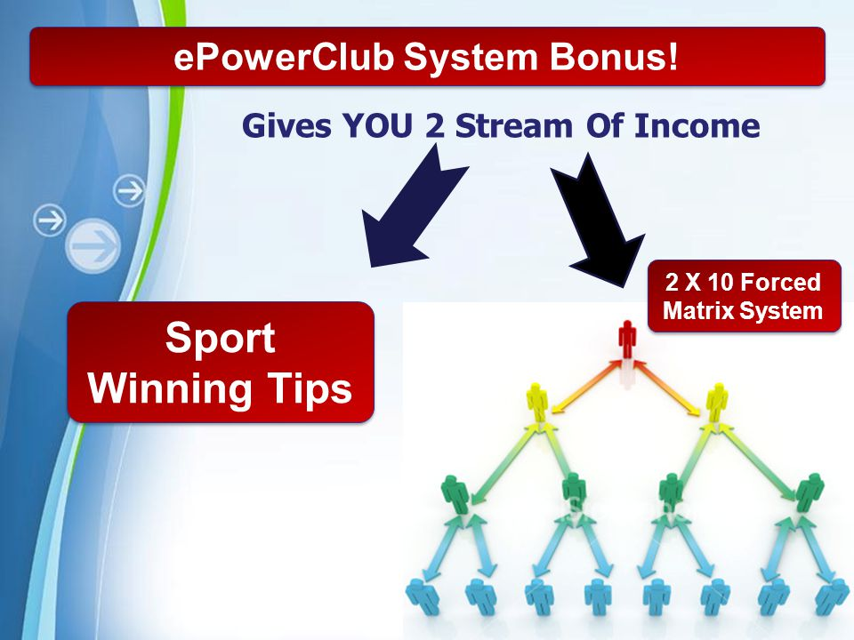 ePowerClub System Bonus! Gives YOU 2 Stream Of Income
