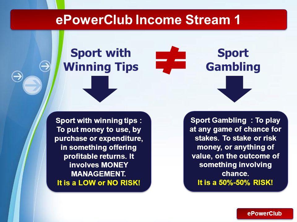 ePowerClub Income Stream 1