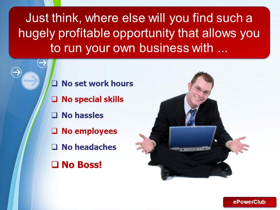 Just think, where else will you find such a hugely profitable opportunity that allows you to run your own business with ...