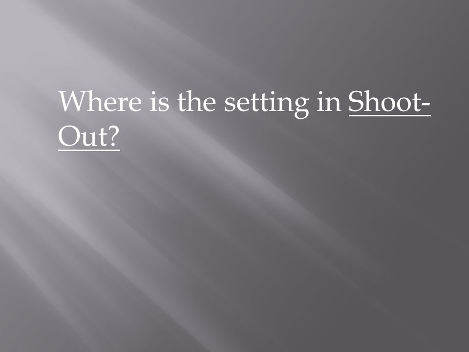 Where is the setting in Shoot-Out