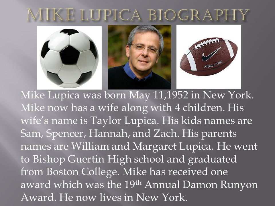 Mike Lupica Biography