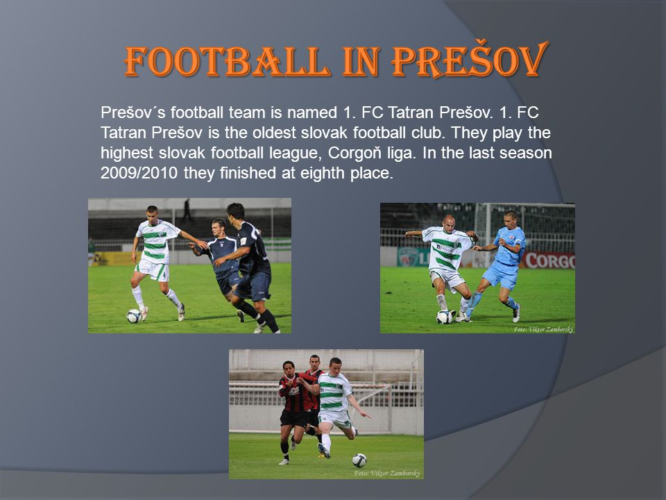 Football in prešov