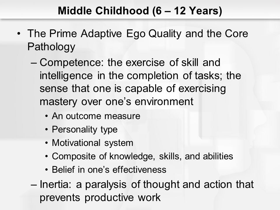 Middle Childhood (6 – 12 Years)