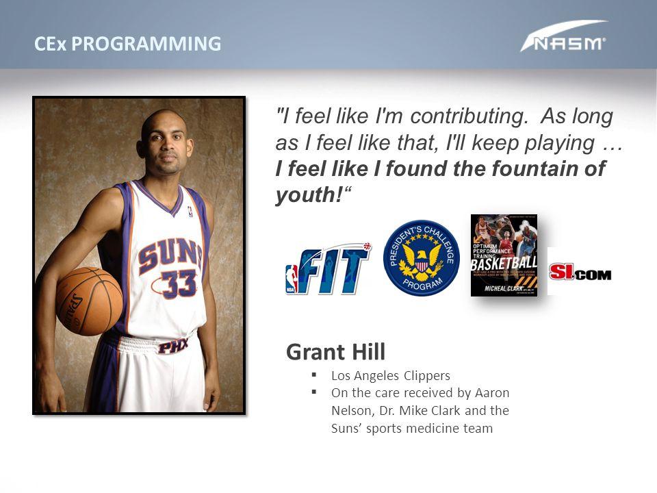Grant Hill CEx PROGRAMMING