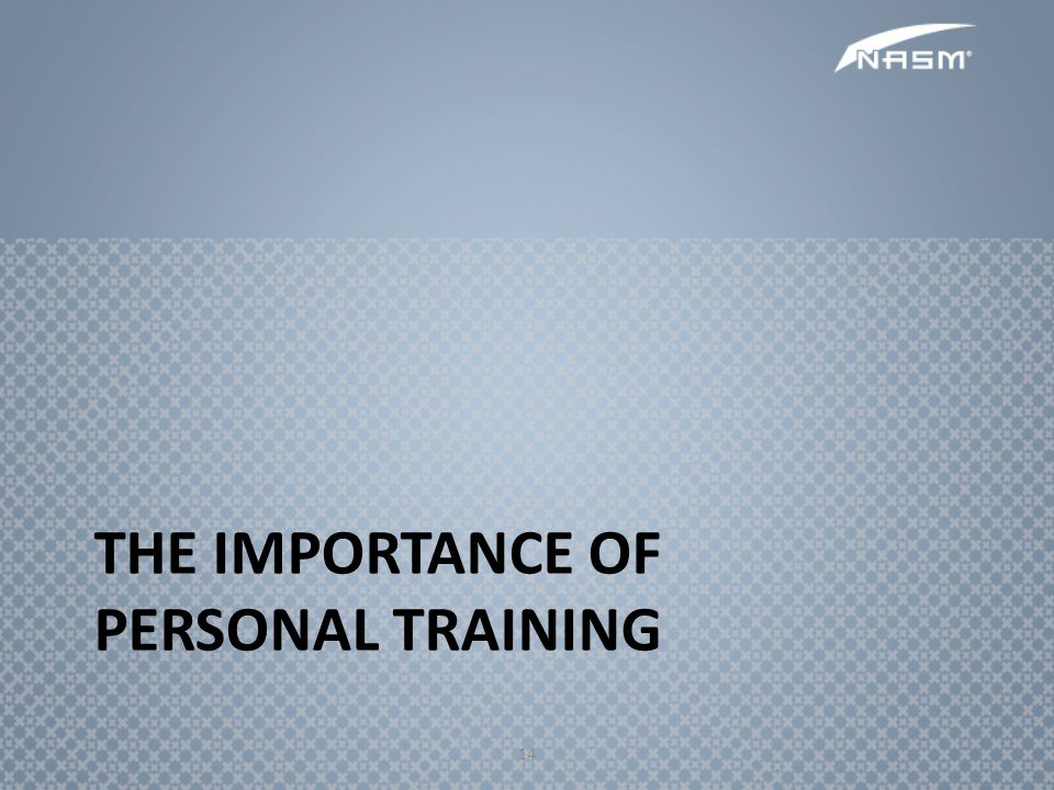the Importance of Personal Training