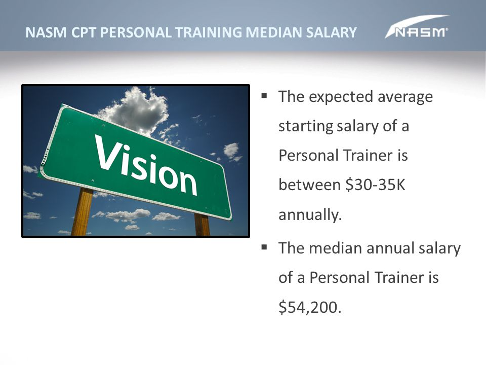The median annual salary of a Personal Trainer is $54,200.