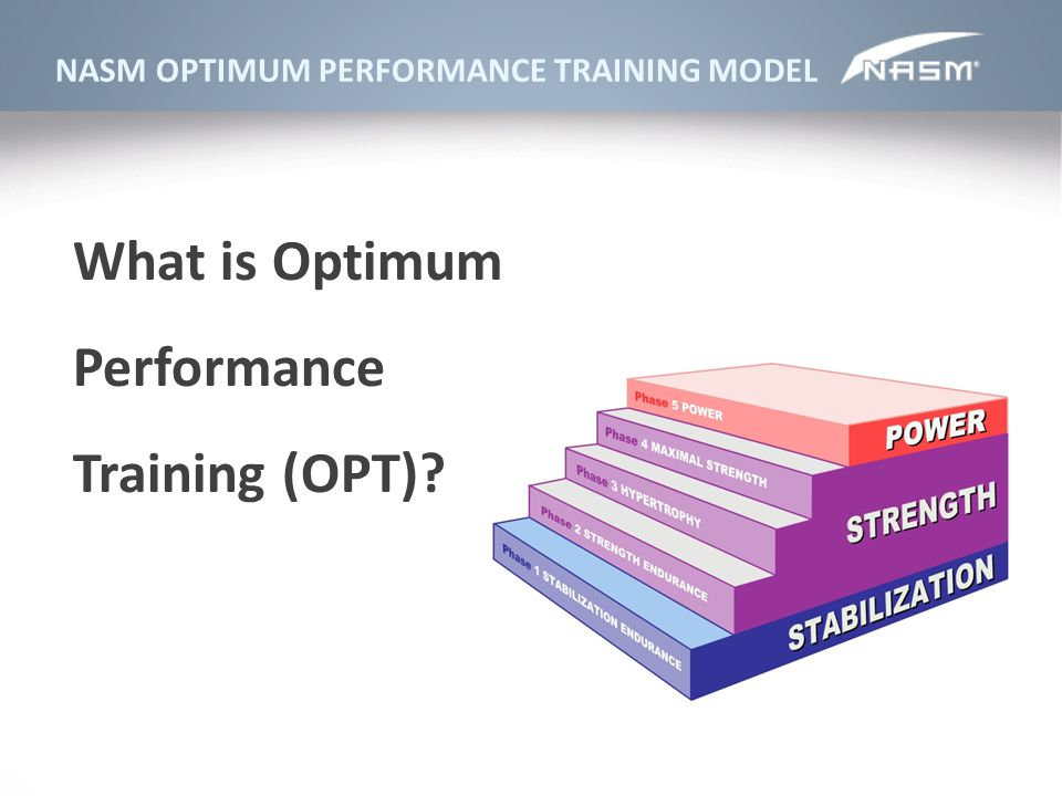 What is Optimum Performance Training (OPT)