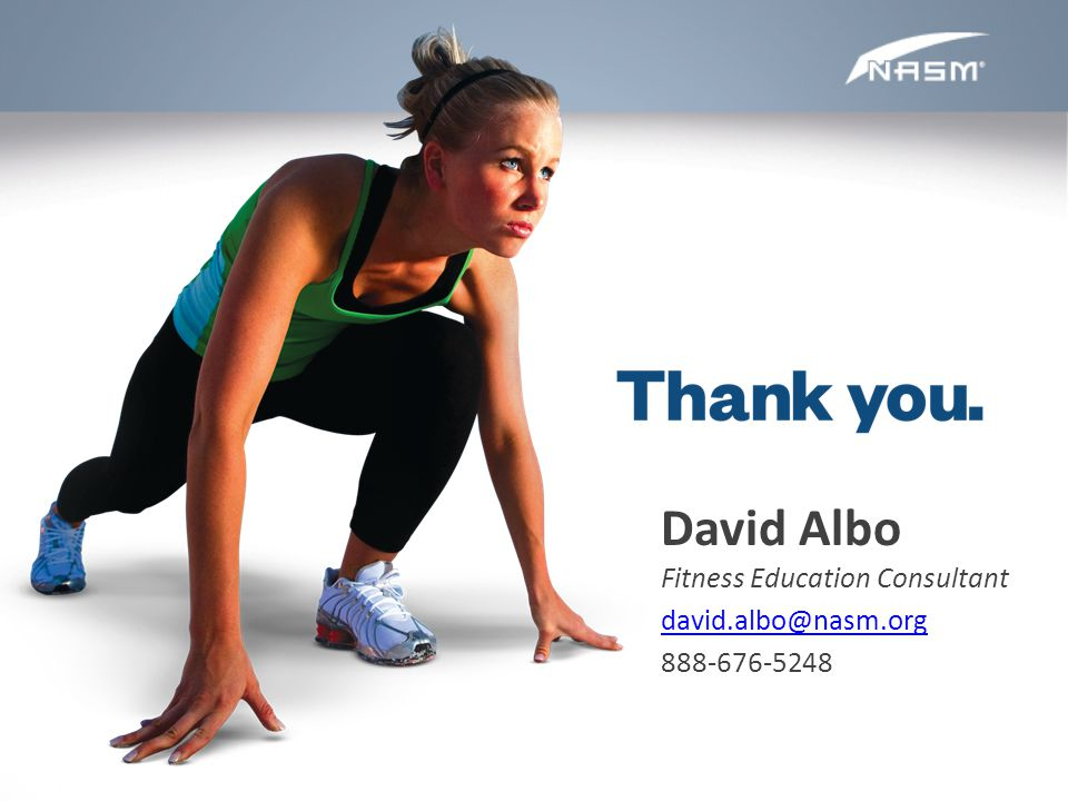 David Albo Fitness Education Consultant