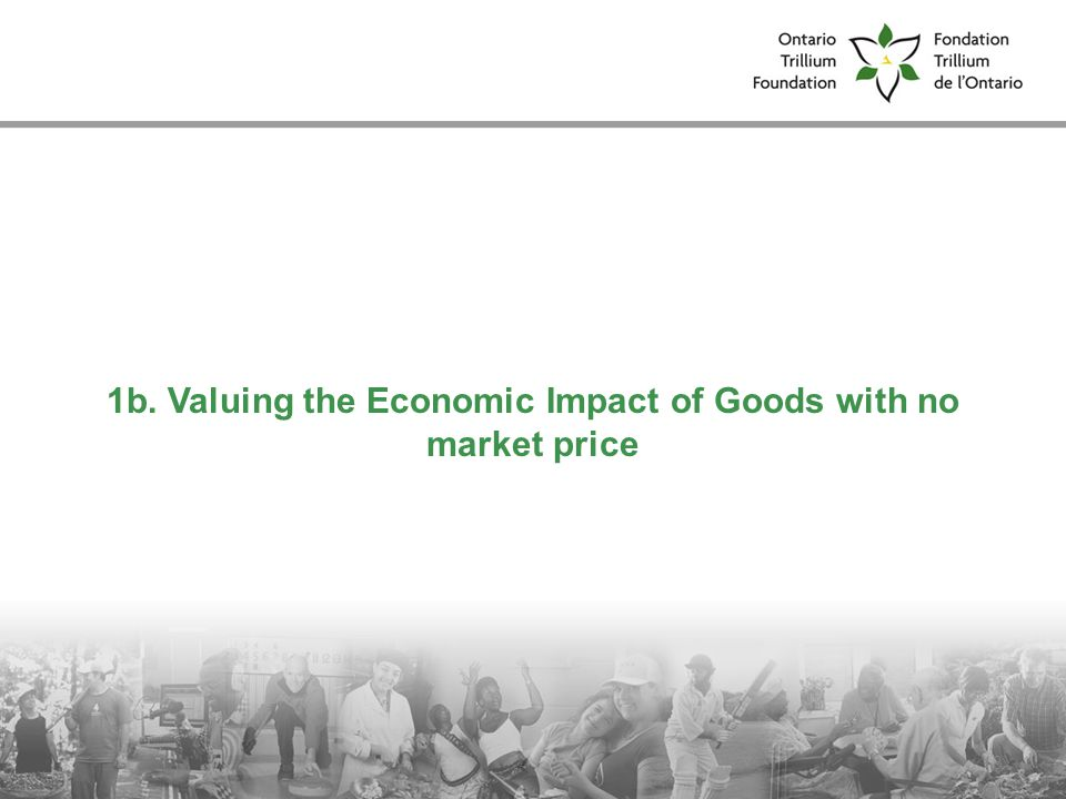 1b. Valuing the Economic Impact of Goods with no market price