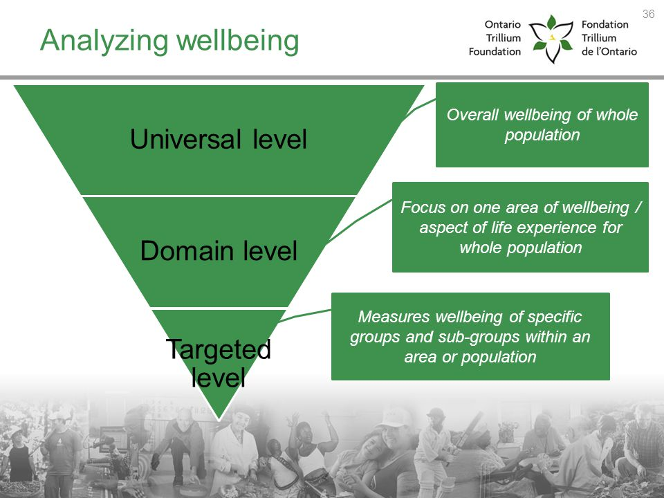 Overall wellbeing of whole population