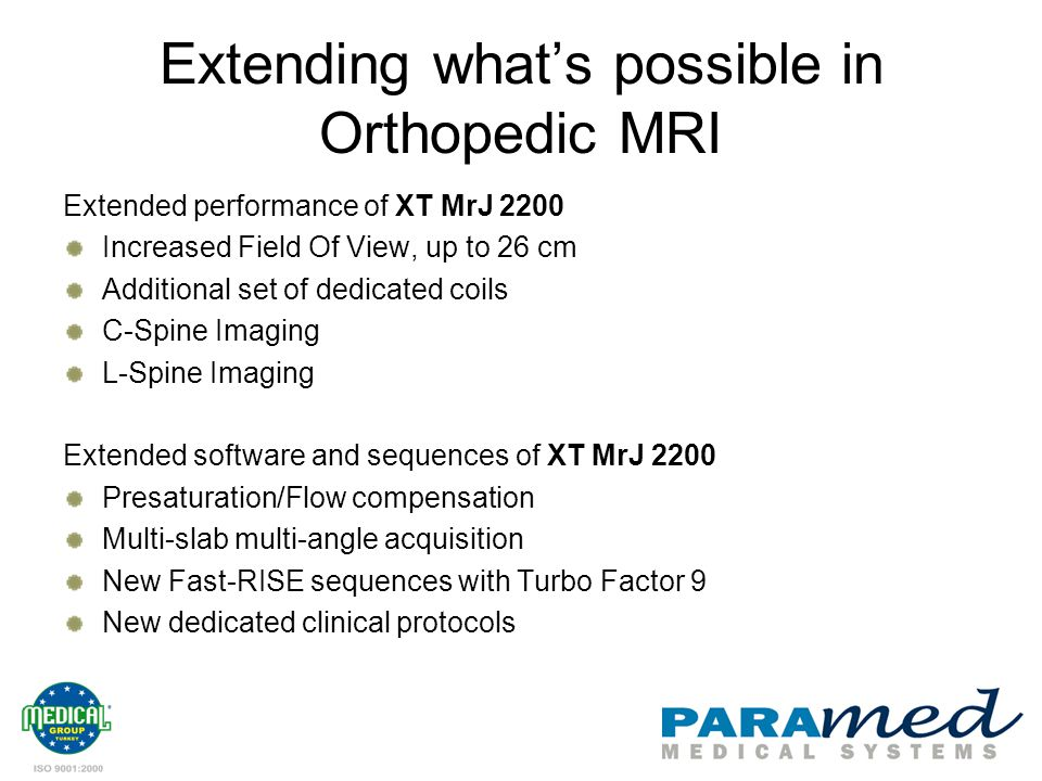 Extending what's possible in Orthopedic MRI
