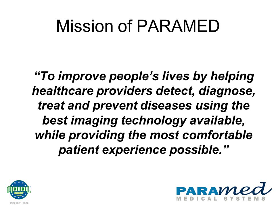 Mission of PARAMED