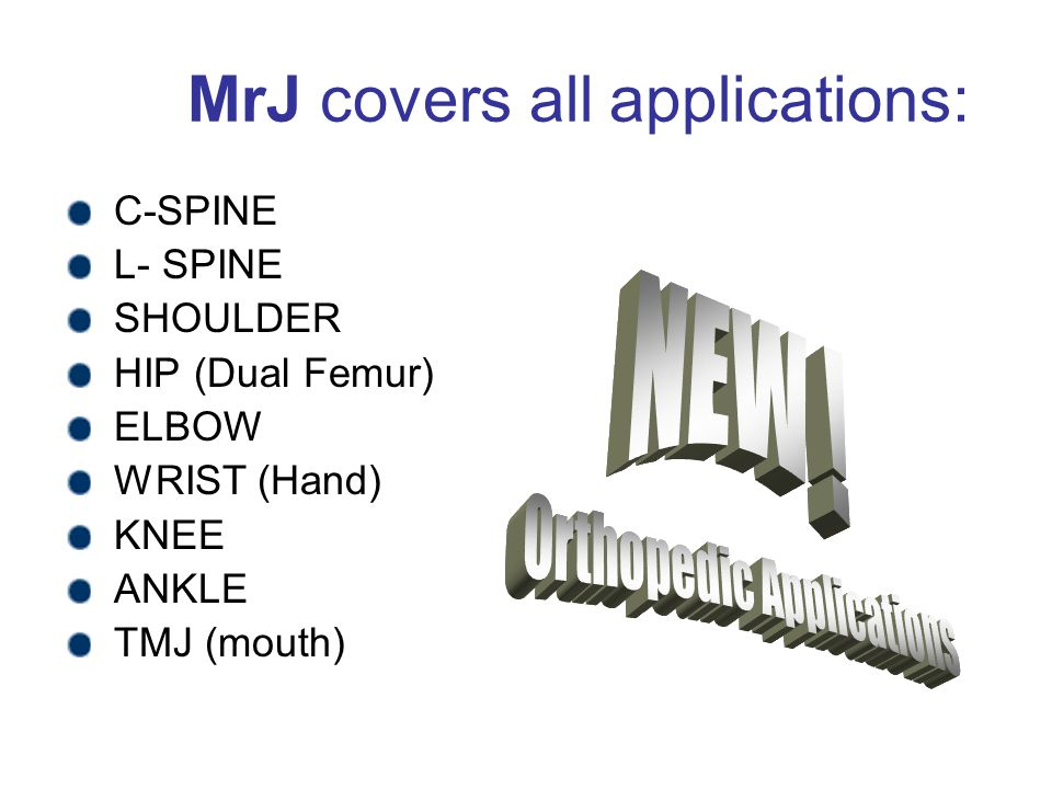 MrJ covers all applications: