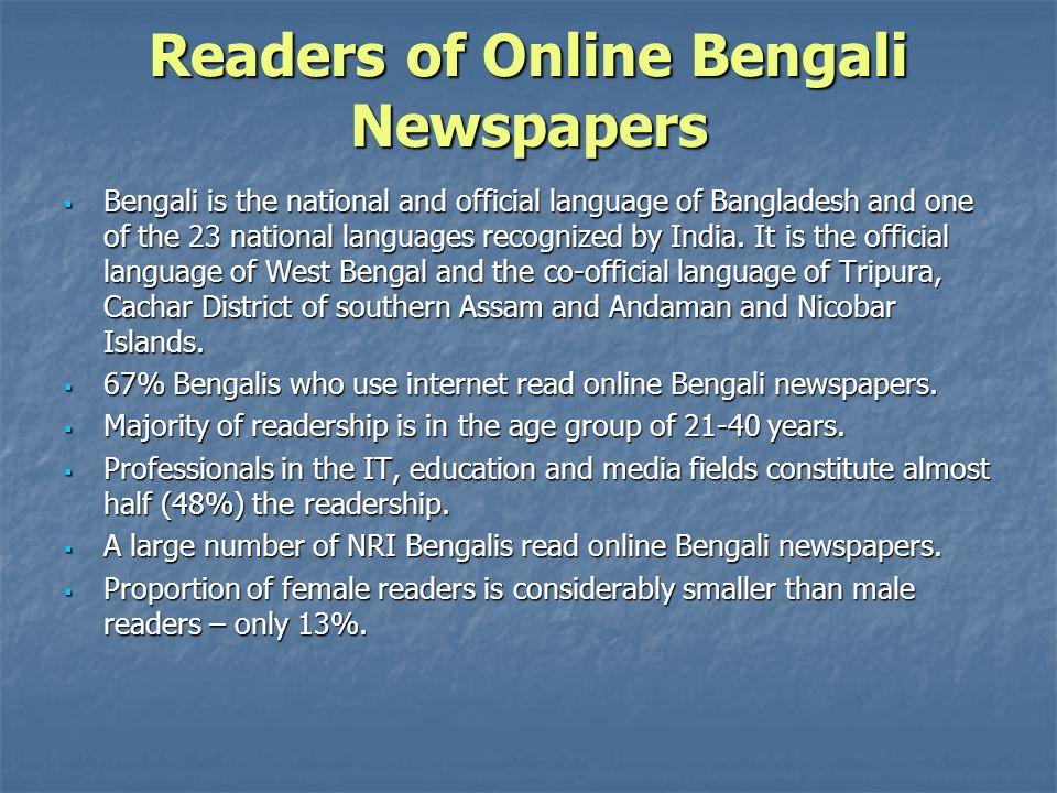 Readers of Online Bengali Newspapers
