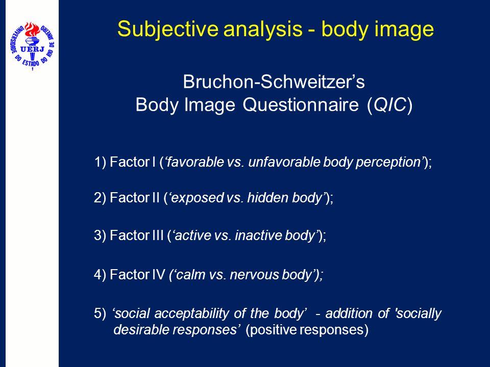 Subjective analysis - body image