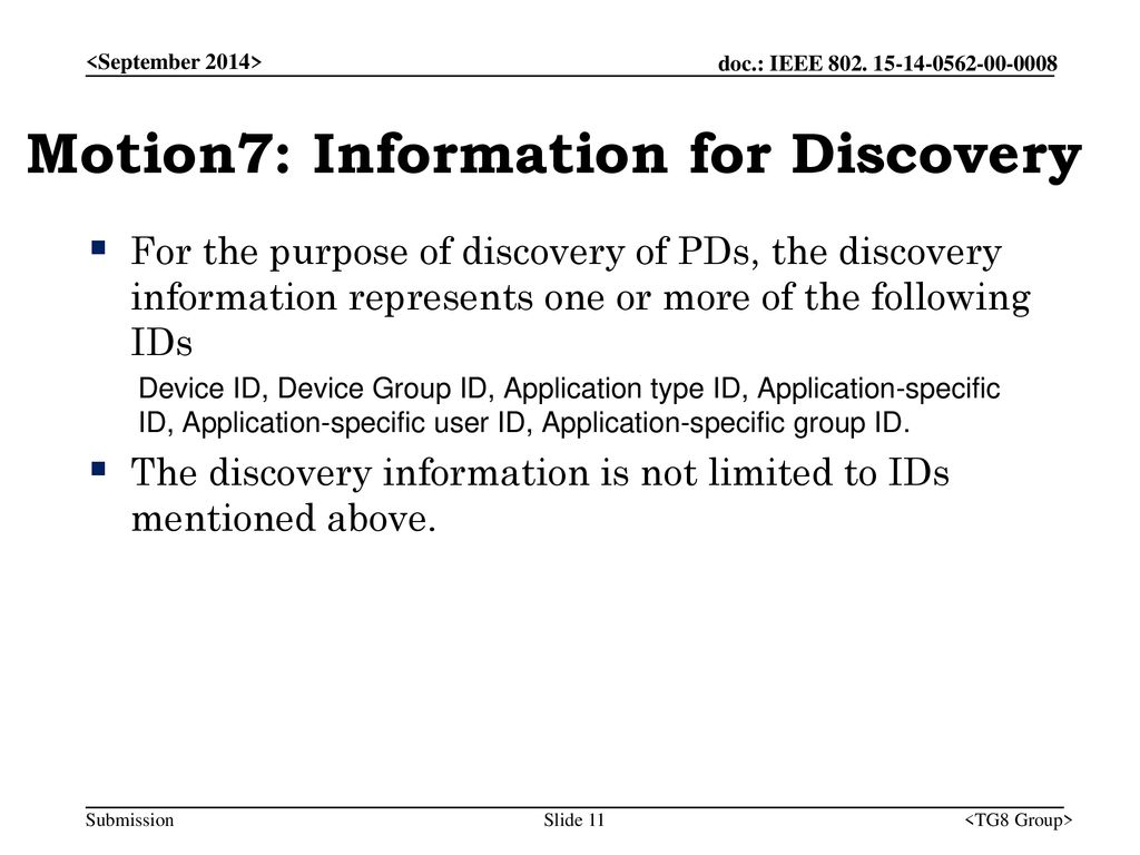 Motion7: Information for Discovery