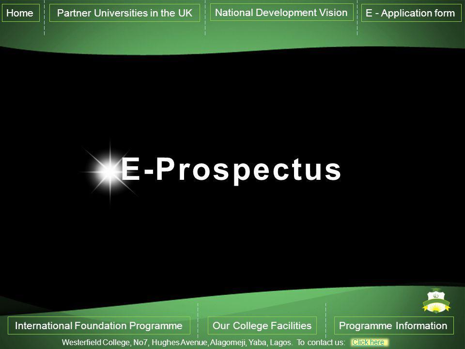 E-Prospectus Home Partner Universities in the UK