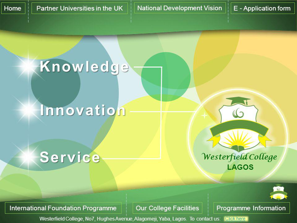 Knowledge Innovation Service Westerfield College LAGOS Home