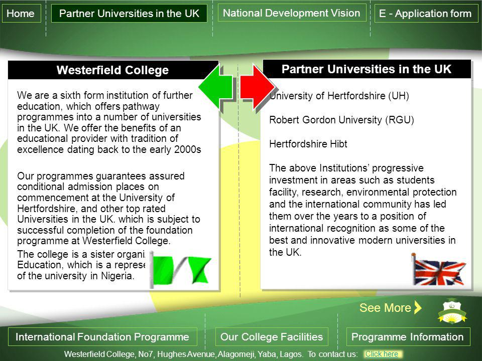 Partner Universities in the UK
