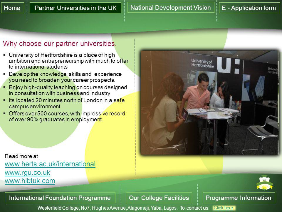 Why choose our partner universities.