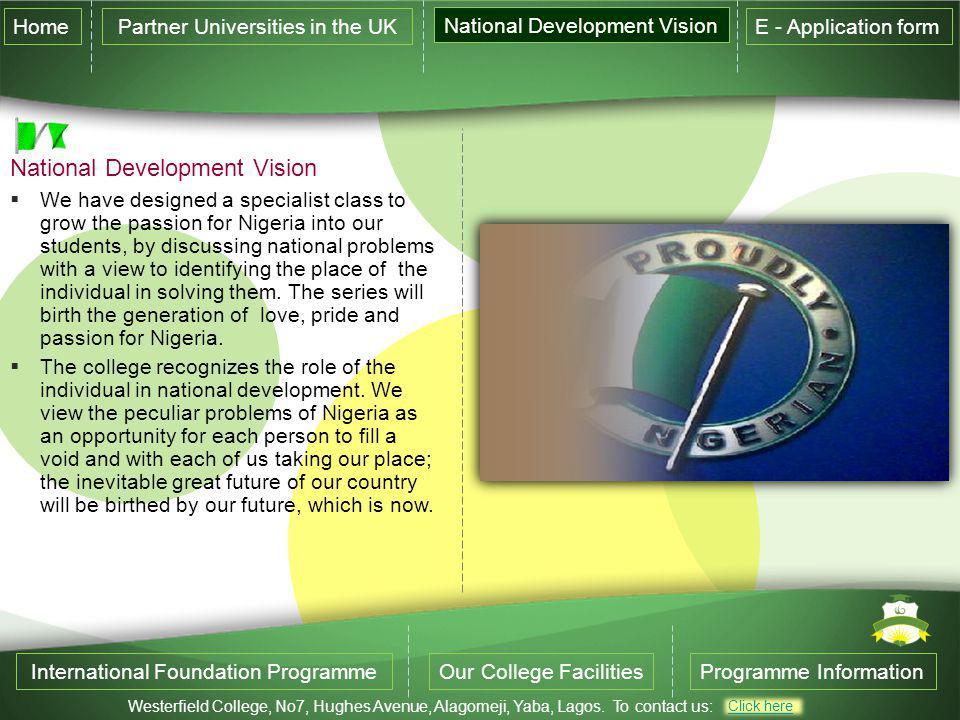 National Development Vision