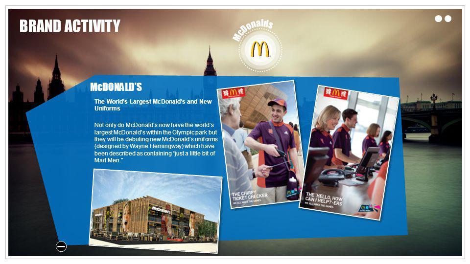 BRAND ACTIVITY McDONALD'S McDonalds