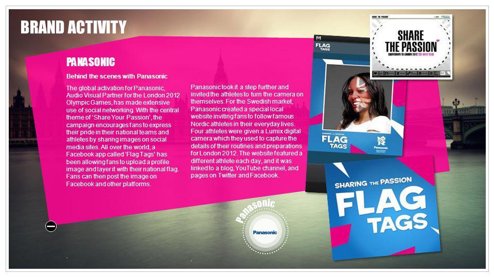 BRAND ACTIVITY PANASONIC Panasonic Behind the scenes with Panasonic