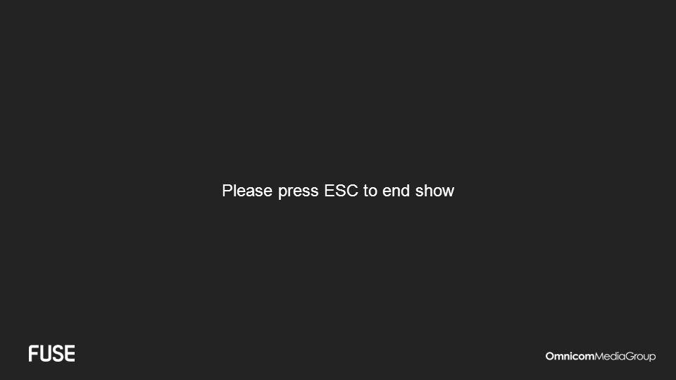 Please press ESC to end show