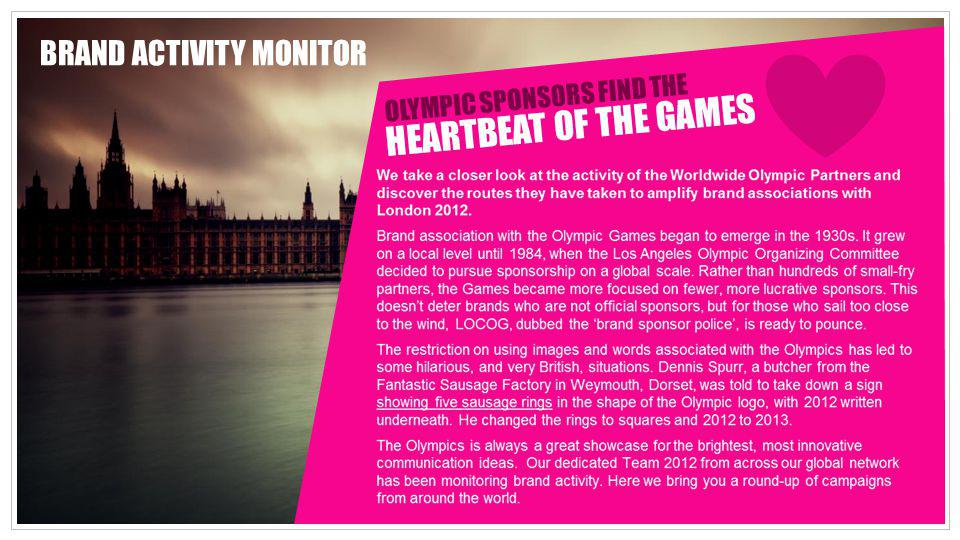 HEARTBEAT OF THE GAMES BRAND ACTIVITY MONITOR