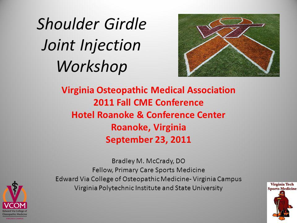 Shoulder Girdle Joint Injection Workshop