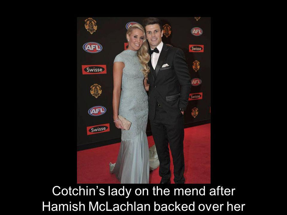 Cotchin's lady on the mend after Hamish McLachlan backed over her