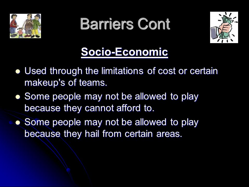 Barriers Cont Socio-Economic