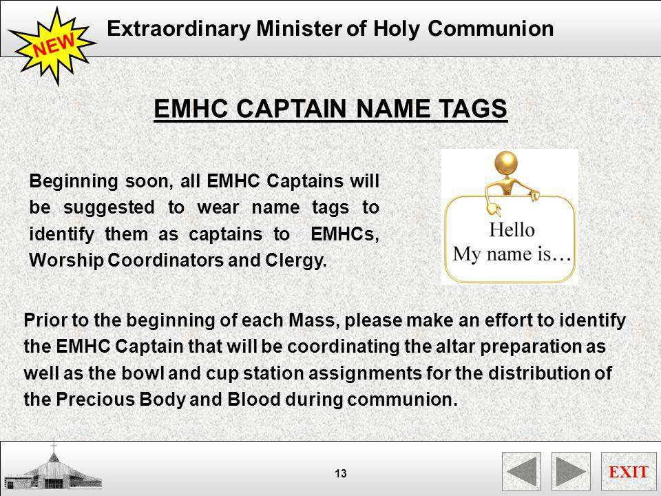 EMHC CAPTAIN NAME TAGS NEW