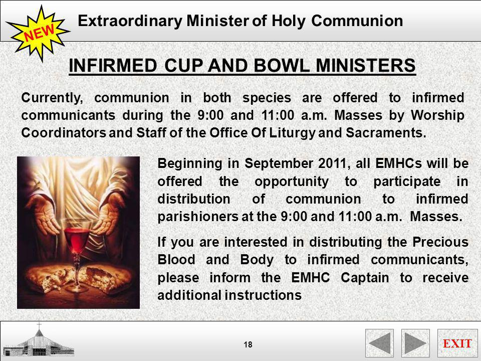 INFIRMED CUP AND BOWL MINISTERS