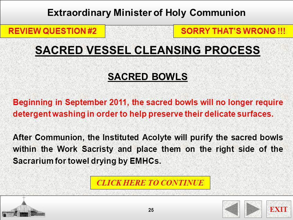 SACRED VESSEL CLEANSING PROCESS