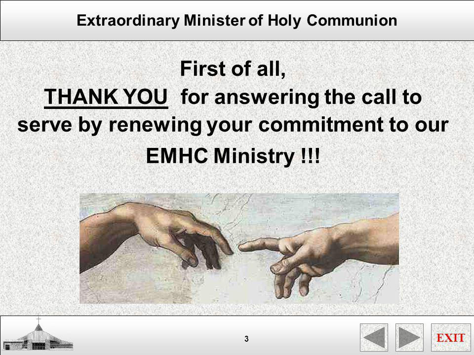First of all, THANK YOU for answering the call to serve by renewing your commitment to our.