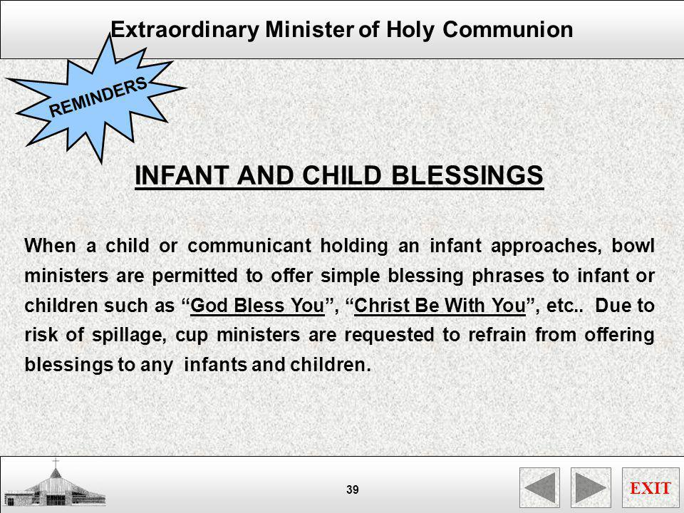INFANT AND CHILD BLESSINGS