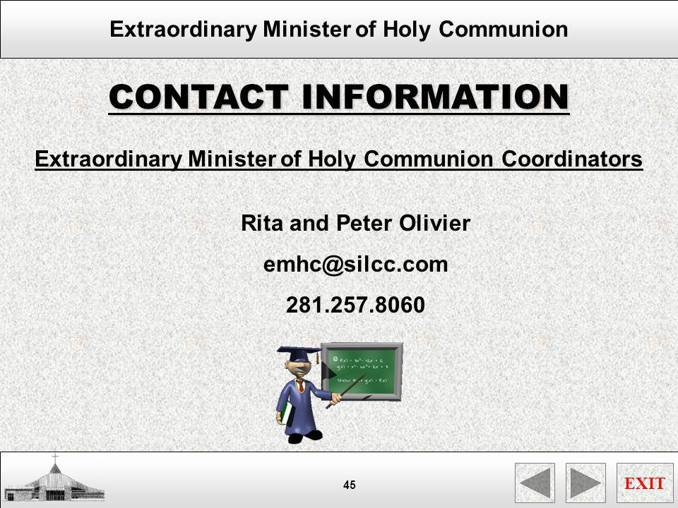 Extraordinary Minister of Holy Communion Coordinators