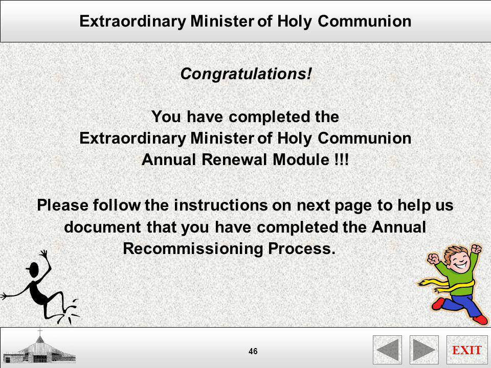 Extraordinary Minister of Holy Communion