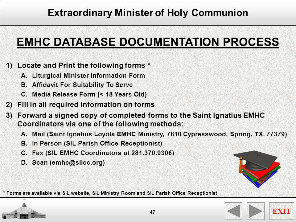 EMHC DATABASE DOCUMENTATION PROCESS
