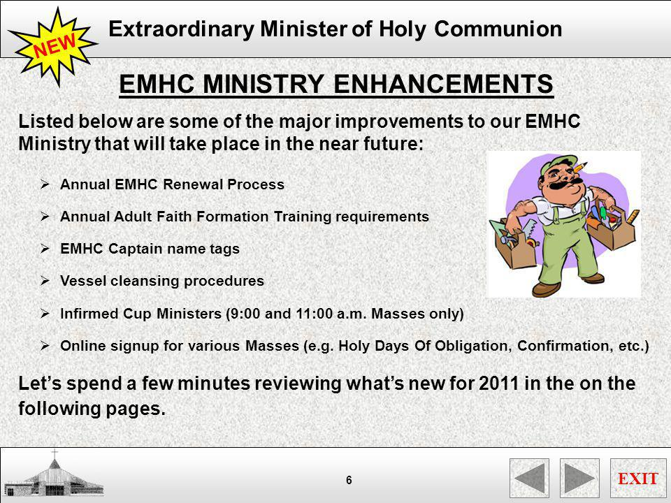 EMHC MINISTRY ENHANCEMENTS